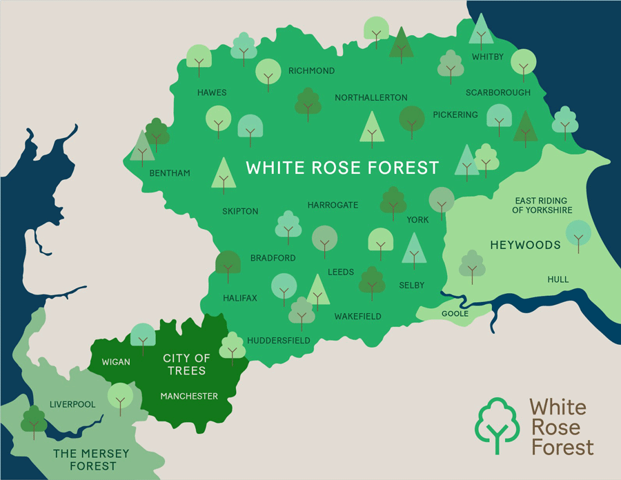 White Rose Forest Map