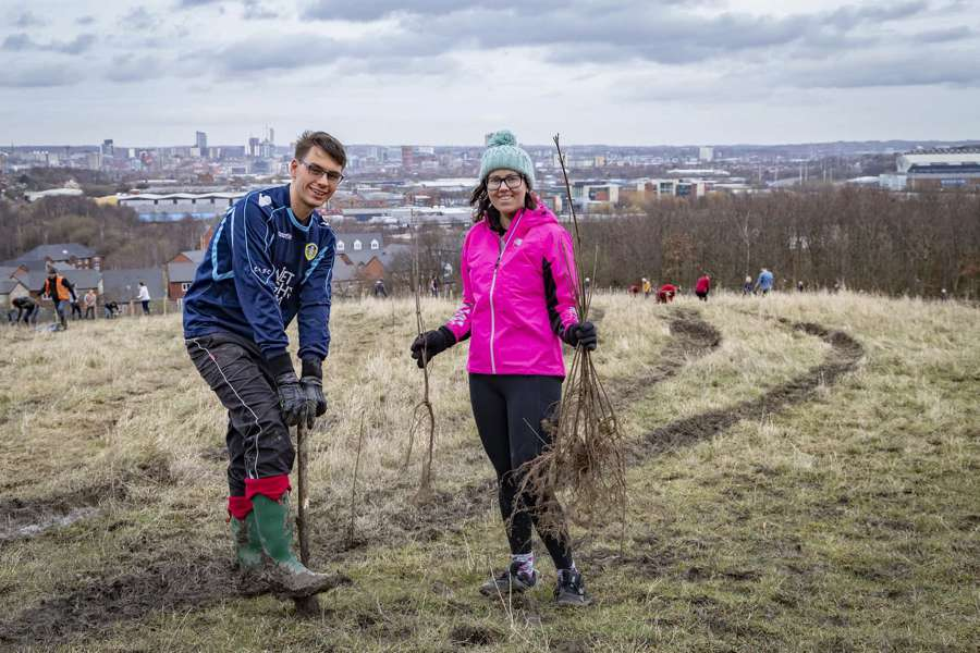More than 200,000 trees have been planted in Leeds over the past year