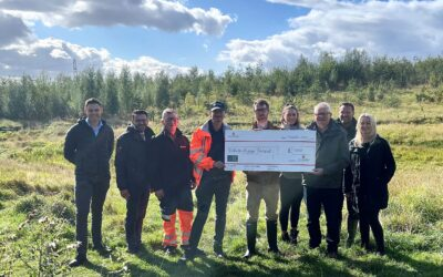 Local business UK Greetings donates £1,000 to plant more trees in Dewsbury Country Park